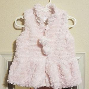 BoGo!🦄 Mud Pie Toddler Girls Pink Fur Vest